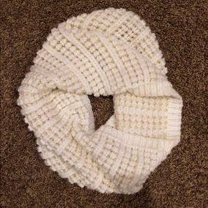 Creme infinity scarf